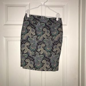 Forever 21 Paisely Pencil Skirt